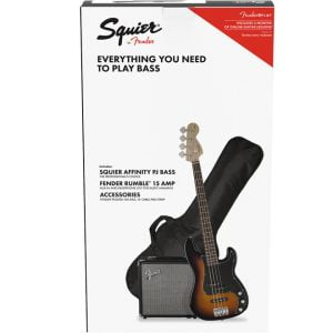 Fender Squier Affinity Series Precision Bass PJ BSB Pack Front