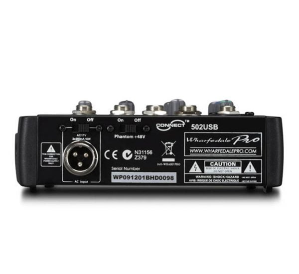 Wharfedale Pro Connect 502 USB Back