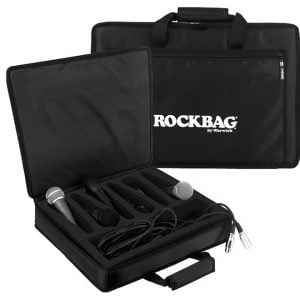 ROCKBAG RB23206B Borsa per 6 Microfoni 41x36cm