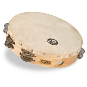 LP CP380 10 Tambourine with Head Double Row