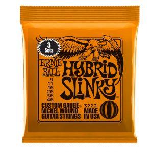 Ernie Ball 3222 Hybrid Slinky 3 Pack