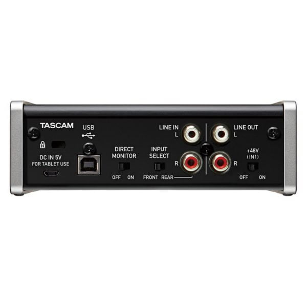 Tascam US-1×2 Back