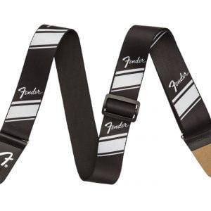 Fender Nylon Competition Stripe Strap Silver