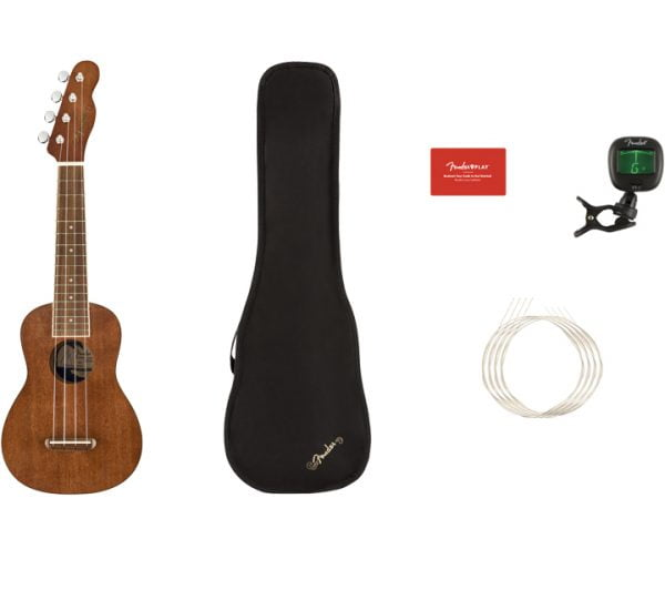 Fender Seaside Soprano Ukulele Pack