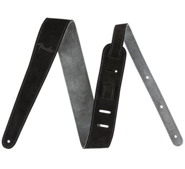 Fender 2″ Reversible Suede Strap Black-Gray