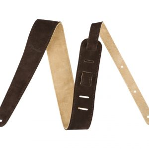 Fender 2″ Reversible Suede Strap Brown-Tan