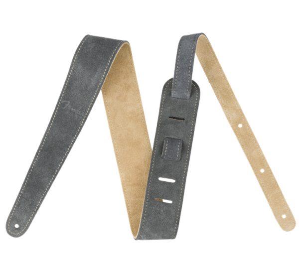 Fender 2″ Reversible Suede Strap Gray-Tan