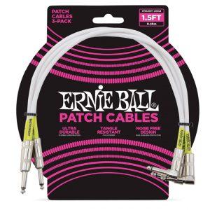 Ernie Ball 6056 Cavo Patch 3PZ White