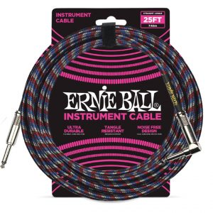 Ernie Ball 6063 Cavo Braided Black-Red-Blue-White 7,62