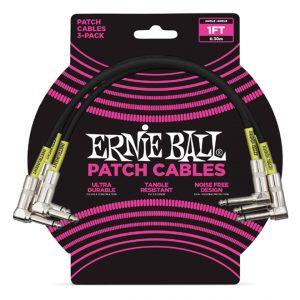 Ernie Ball 6075 Cavo Patch 3PZ Black