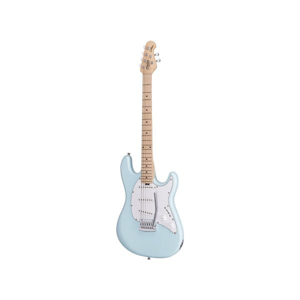Sterling By Music ManCutlass SSS MN Daphne Blue Front 2