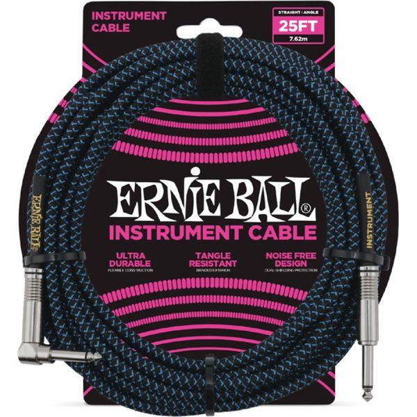 Ernie Ball 6060 Cavo Braided Black-Blue 7,62