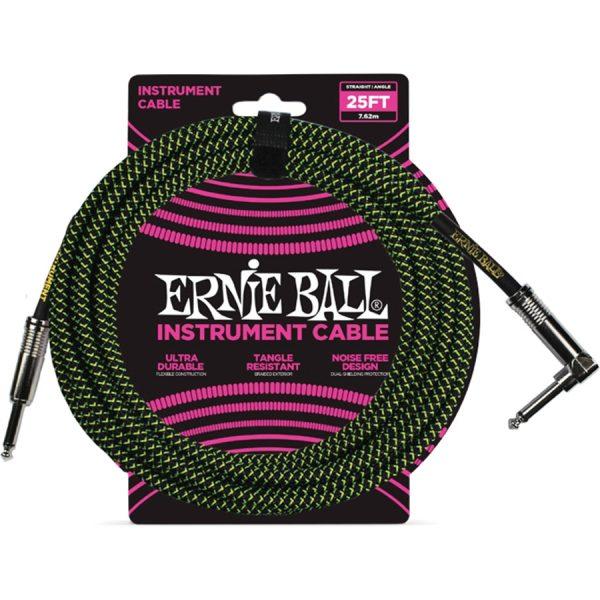 Ernie Ball 6066 Cavo Braided Black-Green 7,62