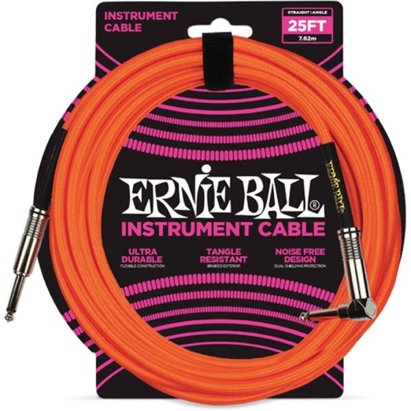 Ernie Ball 6067 Cavo Braided Neon Orange 7,62