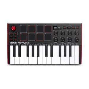 Akai MPK Mini MK3 è una tastiera USB MIDI 25 tasti mini con arpeggiatore e 8 pad MPC sensibili alla dinamica, 8 potenziometri rotativi a 360°, joystick.