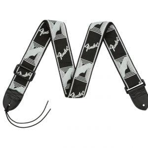 Fender 2 Monogrammed Strap Black - Light Grey - Dark Grey