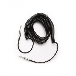 D'Addario PW-CDG-30BK Coiled Instrument Cable Black